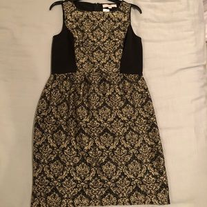 LOFT Dresses - LOFT Black & Gold Dress